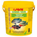 Корм для рыб CICHLIDs Sticks 10 л (ведро)