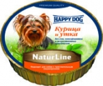 консервы HAPPY DOG 0,85 кг Курица и утка  паштет (УПАКОВКА 11 шт. Х 85 г)